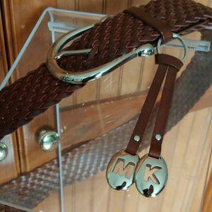 Michael Kors Big Buckle Leather Belt